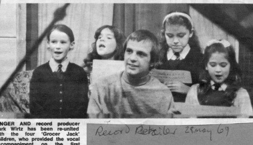 Mark with the childrens choir