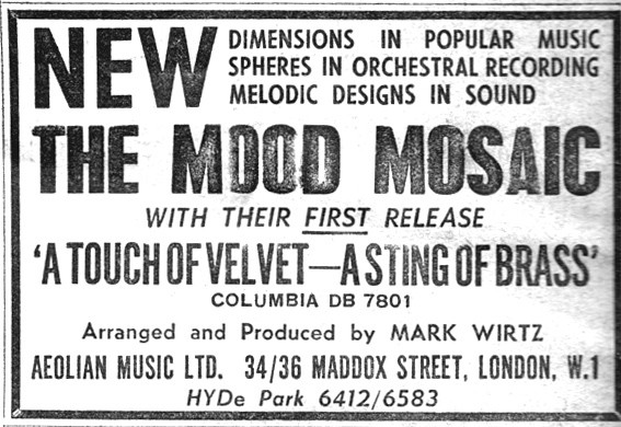 First ever ad for 1965's Mood Mosaic release...