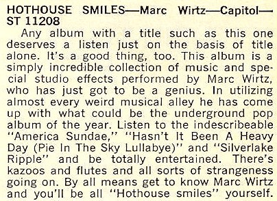 "Cashbox magazine review for ""Hothouse Smiles"" (197"